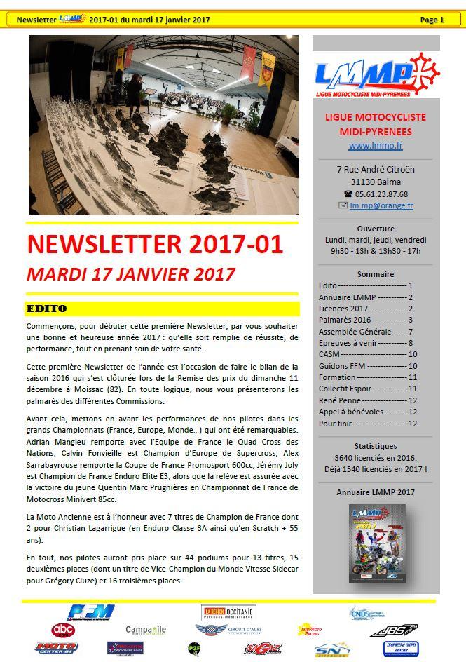Newsletter LMMP N2017-01