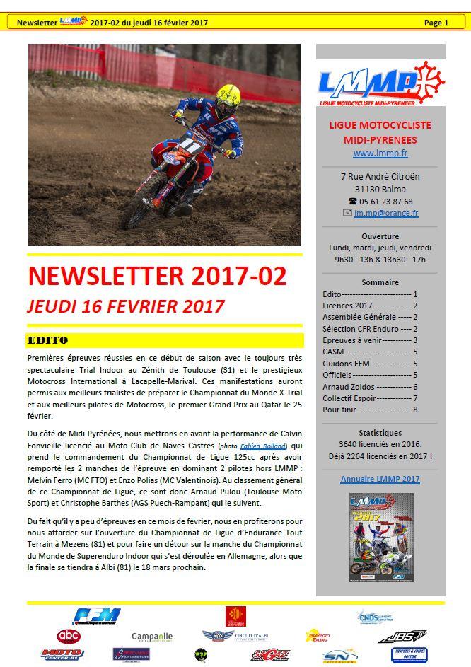Newsletter LMMP N2017-02