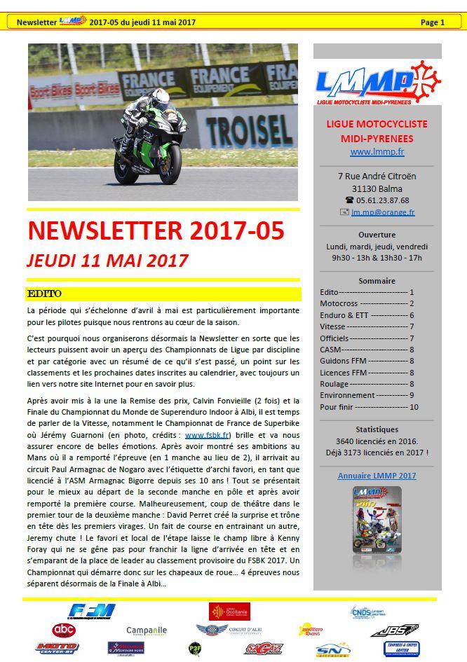 Newsletter LMMP N2017-05