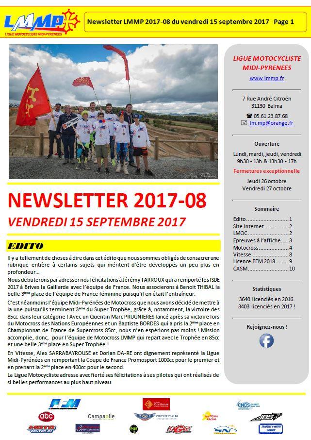 Newsletter N2017-08