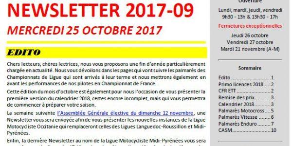 Newsletter LMMP du 25 octobre !