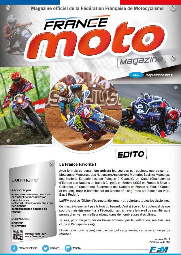 France Moto Magazine 505 Septembre 2017