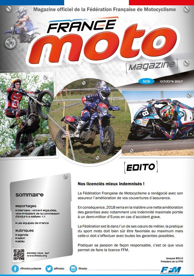 France Moto Magazine 506 octobre 2017